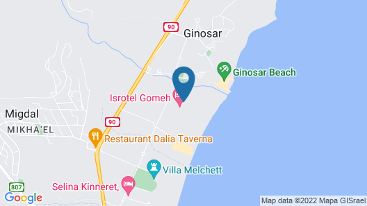 The Sea of Galilee Hotel Map