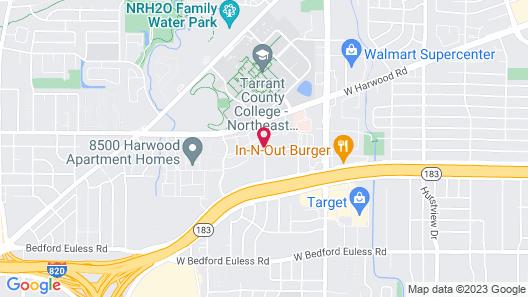 Hilton Garden Inn Dallas at Hurst Conference Center Map