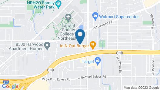 Hampton Inn & Suites Dallas-DFW ARPT W-SH 183 Hurst Map