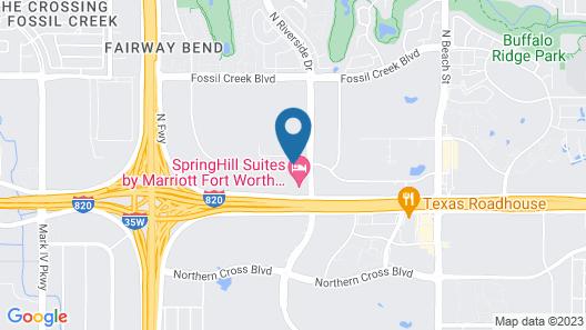 Hampton Inn & Suites Fort Worth-Fossil Creek Map