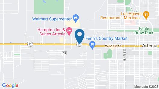 Best Western Pecos Inn Map