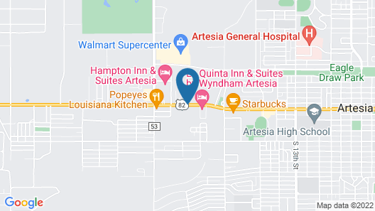 Legacy Inn and Suites Artesia Map