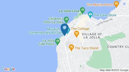 Scripps Inn La Jolla Cove Map