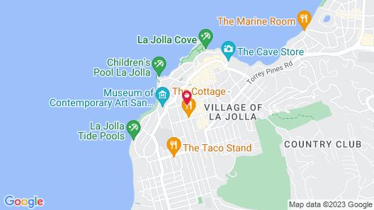 Empress Hotel of La Jolla Map
