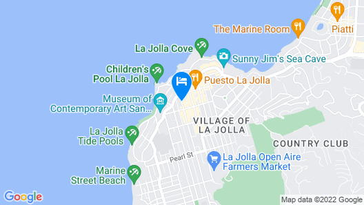 Inn By The Sea La Jolla Map