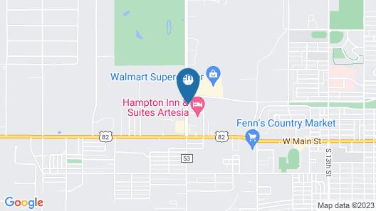 Hampton Inn & Suites Artesia Map