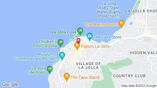 La Valencia Hotel Map