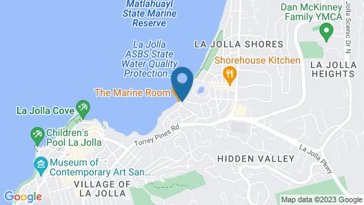 La Jolla Beach and Tennis Club Map