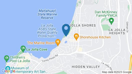 La Jolla Shores Hotel Map