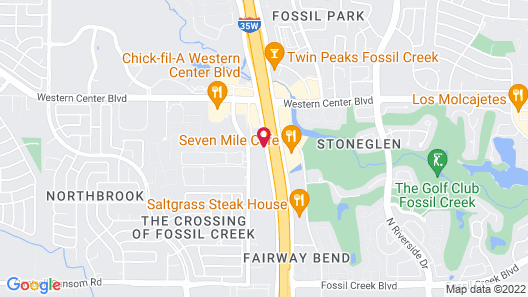 Holiday Inn Express & Suites Fort Worth - Fossil Creek Map