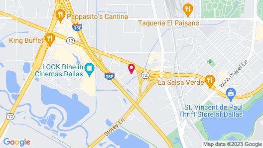 Motel 6 Dallas, TX - Northwest Map