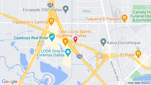 Comfort Suites NW Dallas Near Love Field Map