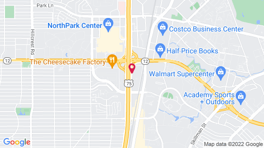 DoubleTree by Hilton Hotel Dallas - Campbell Centre Map
