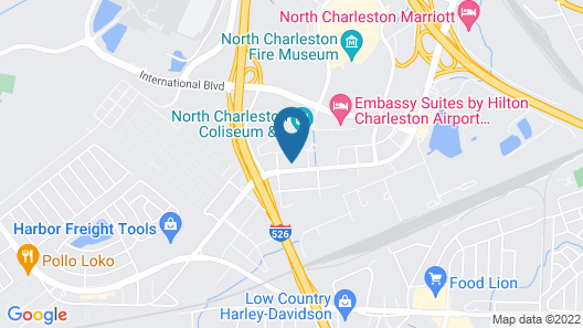 SpringHill Suites by Marriott Charleston Airport & Convention Center Map