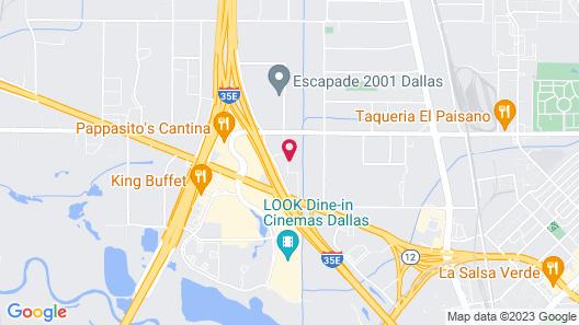 Studio 6 Dallas, TX Map