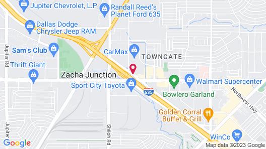 Motel 6 Garland, TX - Garland - Northwest Hwy Map