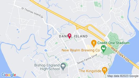 Hampton Inn Charleston - Daniel Island Map