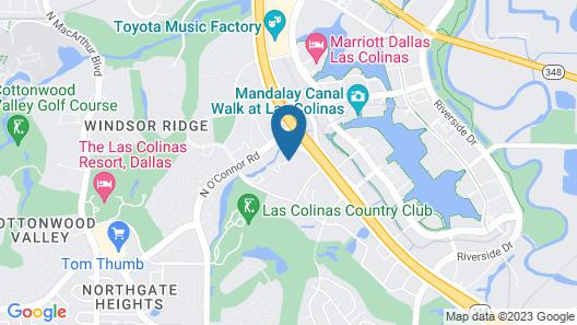 Aloft Las Colinas Map