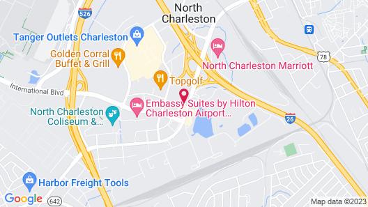 Hampton Inn & Suites Charleston Airport Map