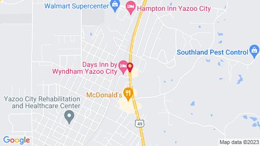 Days Inn by Wyndham Yazoo City Map