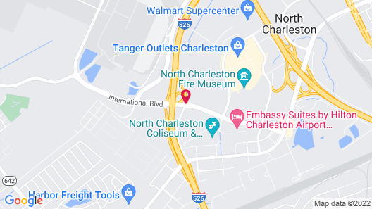 DoubleTree by Hilton North Charleston - Convention Center Map