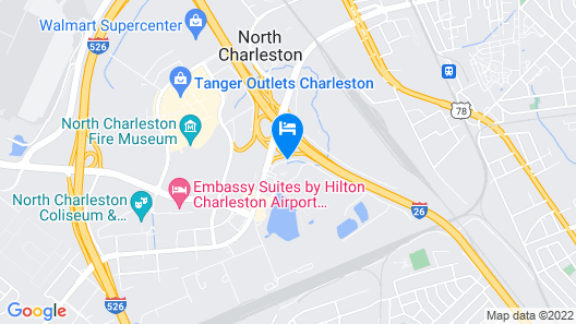 Wingate by Wyndham Charleston Airport Coliseum Map