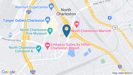 North Charleston Inn Map