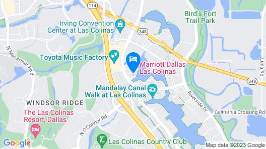 Marriott Dallas Las Colinas Map