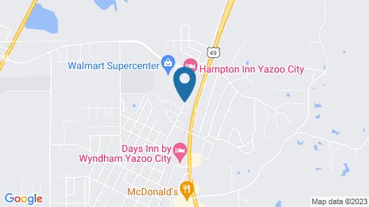 Hampton Inn Yazoo City Map