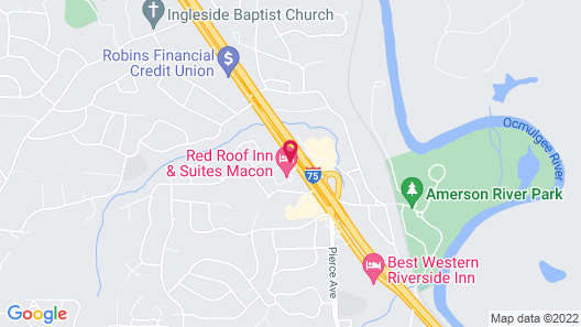 Red Roof Inn & Suites Macon Map