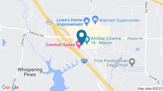Comfort Suites Macon Map