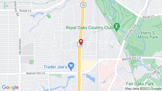 Hampton Inn & Suites Dallas - Central Expy North Park Area Map