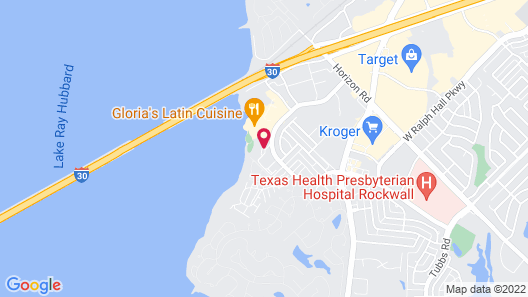 Hilton Dallas/Rockwall Lakefront Map