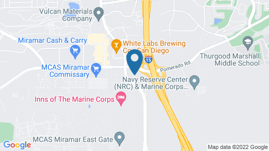 Best Western San Diego/Miramar Hotel Map