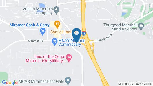 Comfort Inn San Diego Miramar Map