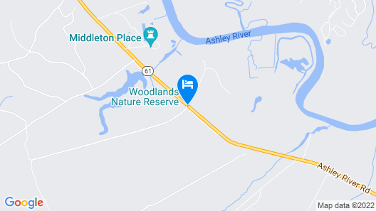 The Inn At Middleton Place Map