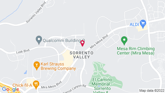 Residence Inn San Diego Sorrento Mesa/Sorrento Valley Map