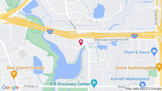 Dallas Park West Hotel Map