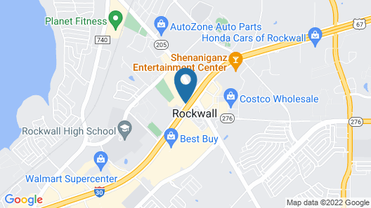 WoodSpring Suites Dallas Rockwall Map