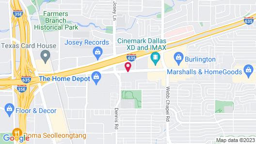 Courtyard by Marriott Dallas Northwest Map