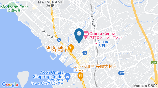 Omura Central Hotel Map