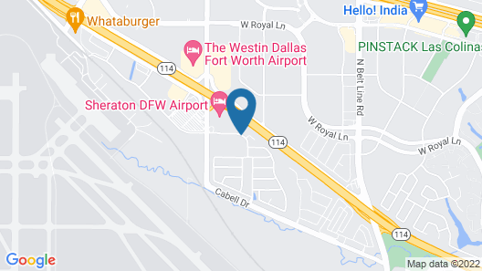 OYO Hotel Irving DFW Airport North Map
