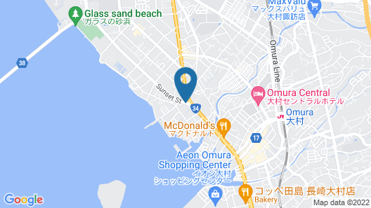 Chisun Inn Nagasaki Airport Map