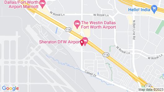 Sheraton DFW Airport Hotel Map