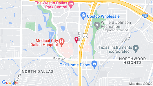 Extended Stay America - Dallas - Coit Road Map
