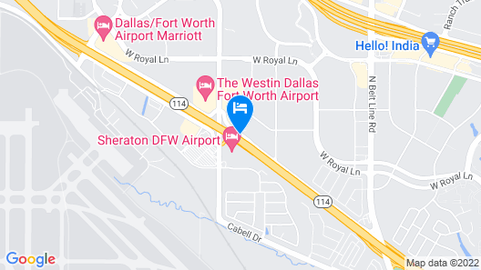 Days Inn by Wyndham Irving Grapevine DFW Airport North Map