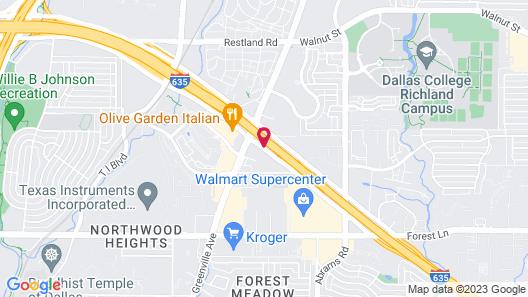 Fairfield Inn & Suites Dallas Park Central Map