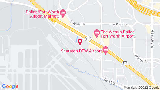 Motel 6 Irving, TX - DFW Airport North Map