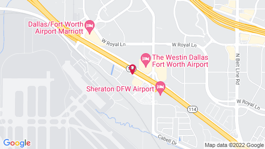 Comfort Suites DFW Airport Map