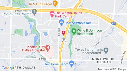 Studio 6 Dallas, TX - North - Richardson Map
